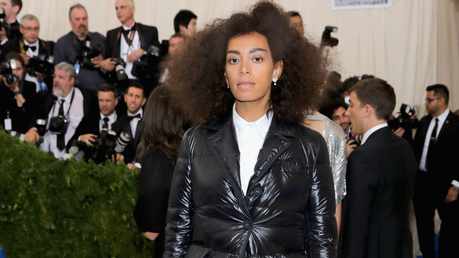 Solange natural hairstyles at MET GALA 2017