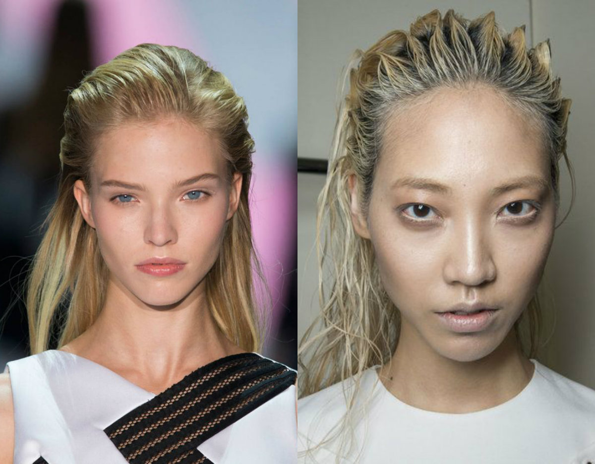 runway wet hairstyles 2017 summer