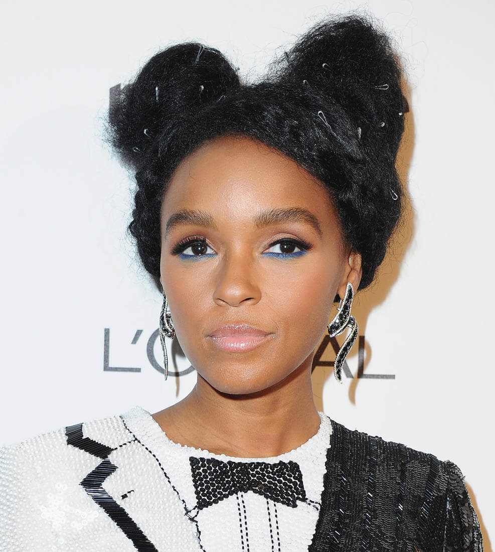 Janelle Monae natural black hairstyles 2018