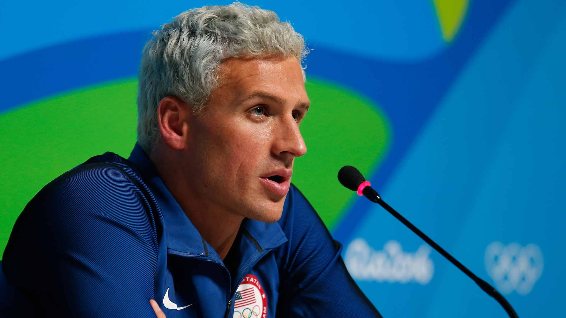 Ryan Lochte grey hairstyles for men 2018