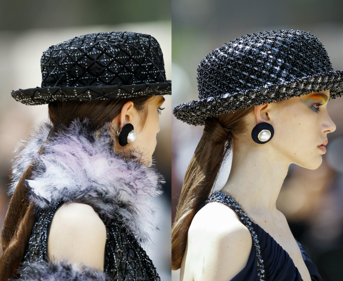 Chanel ponytail hairstyles 2017 Fall-Winter 2018 Couture Week