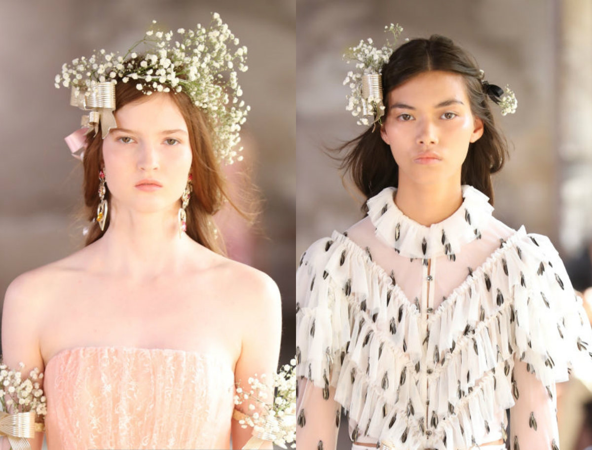 Rodarte hairstyles 2017 fall
