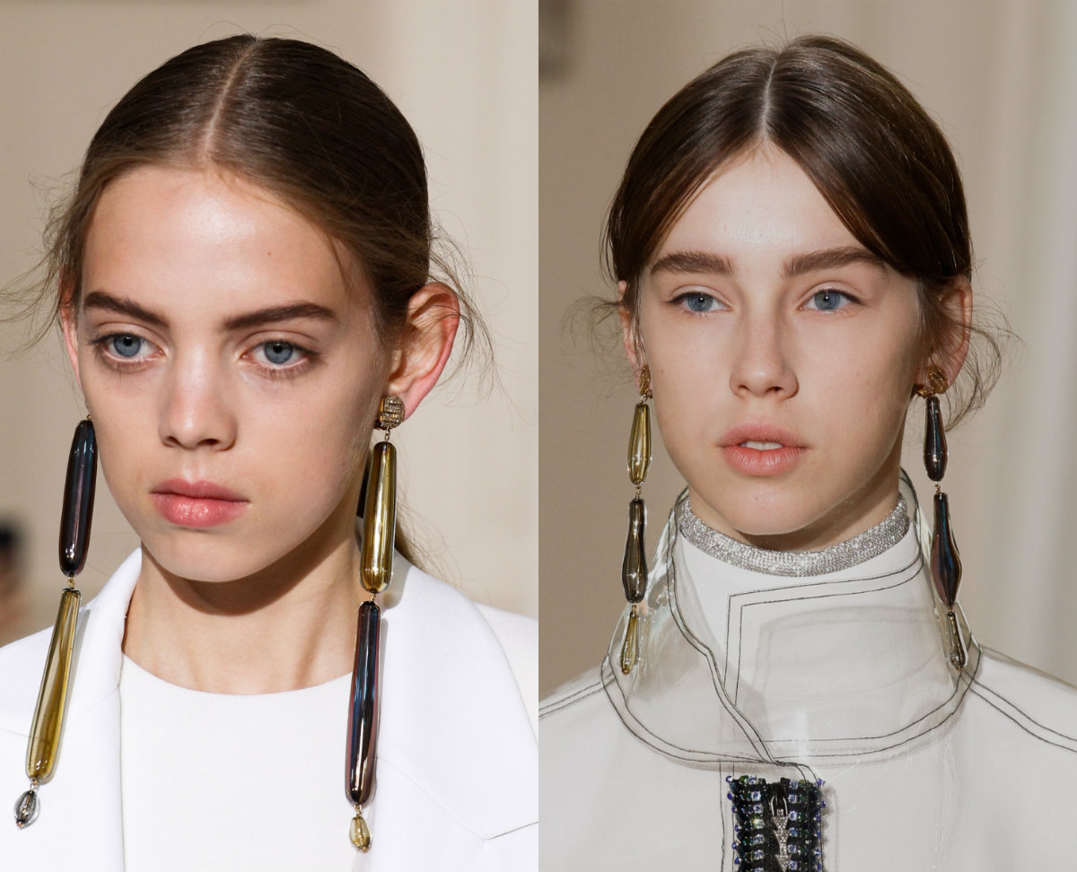 Schiaparelli mid part hair trends 2017 Fall Couture Week