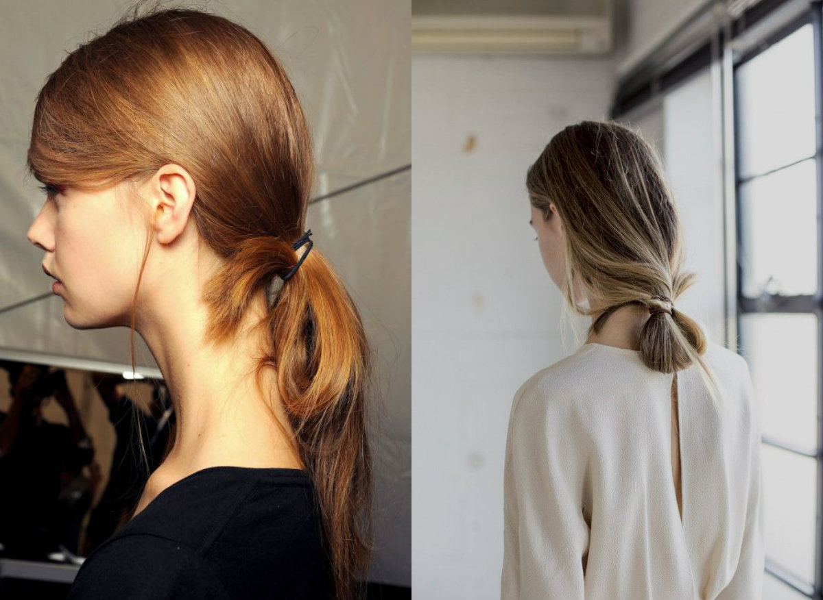 looped ponytails for fall 2017