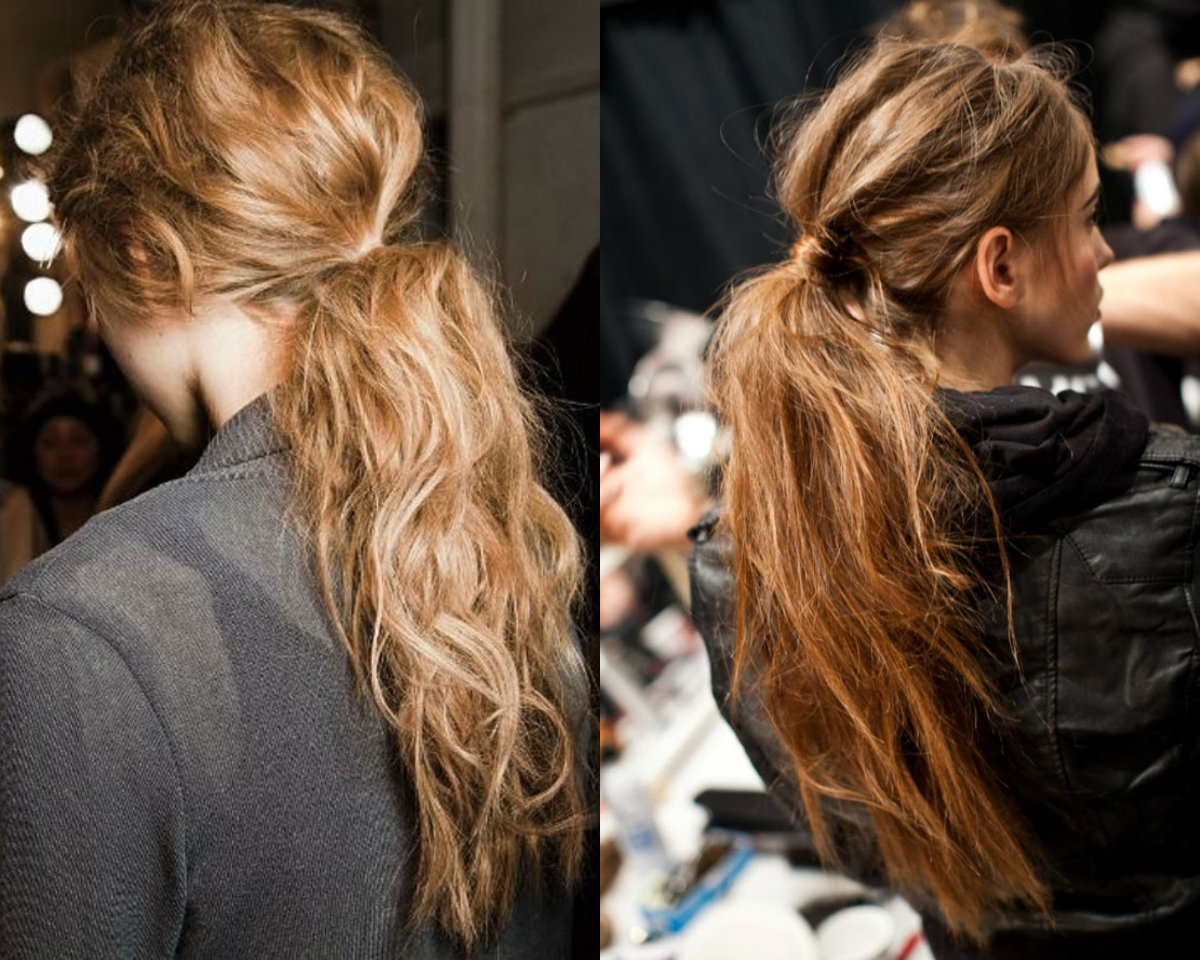 messy ponytail hair trends 2017 fall