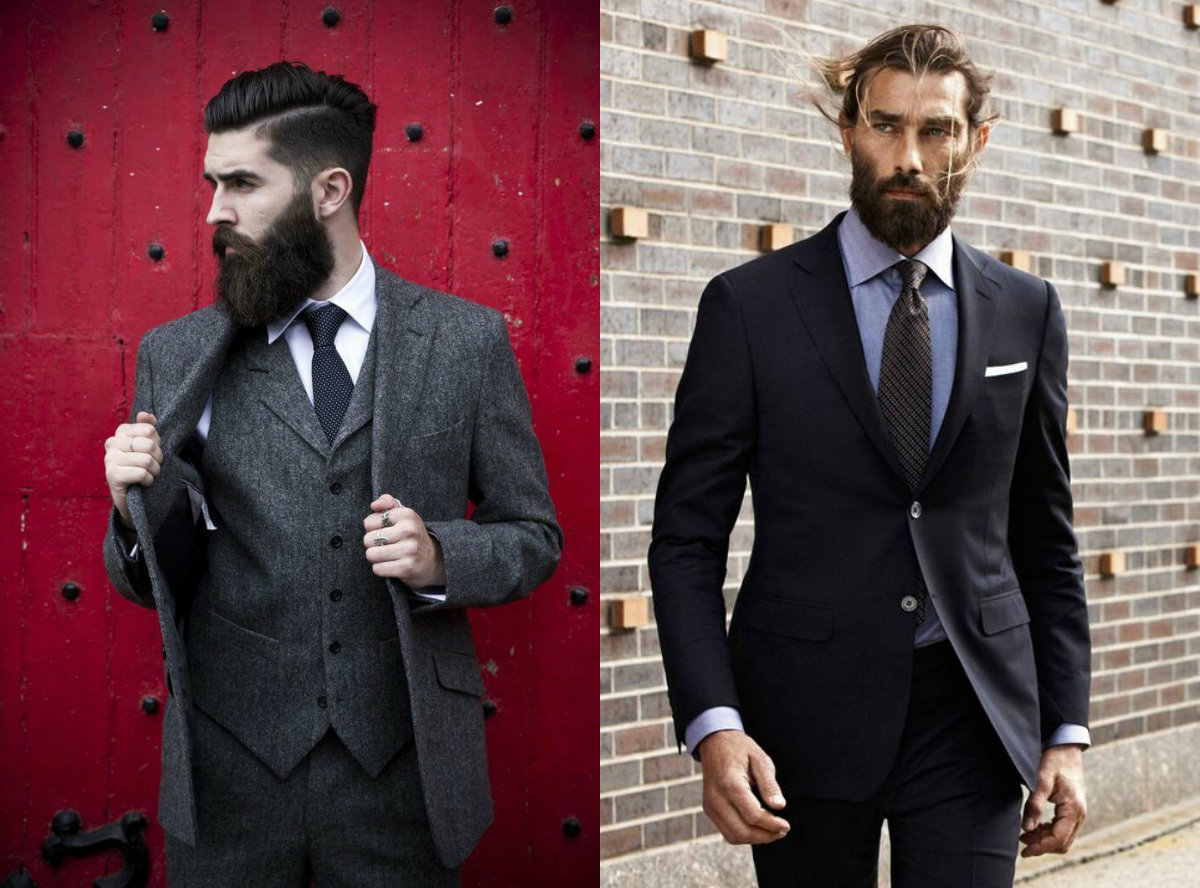 classy look for men with short hair beards 2019