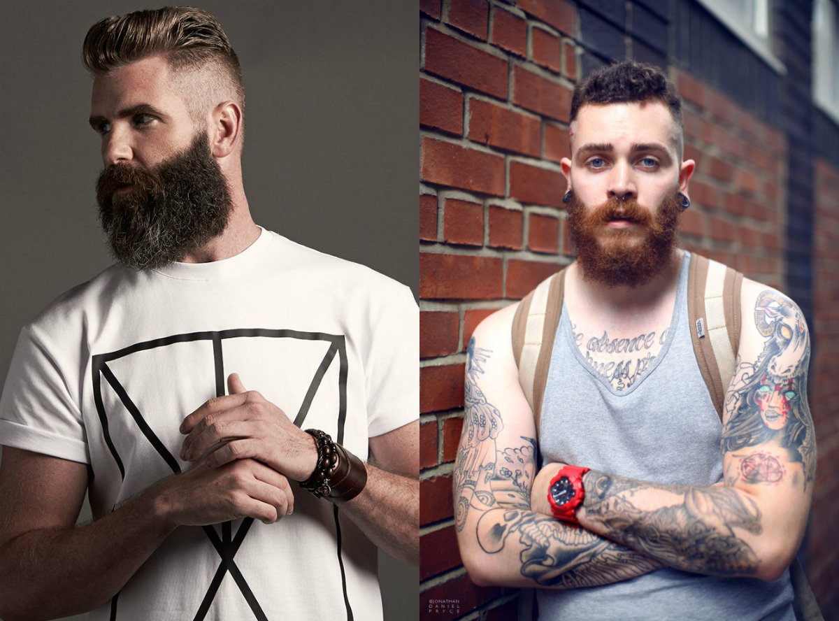 cool men haircuts and beards 2018