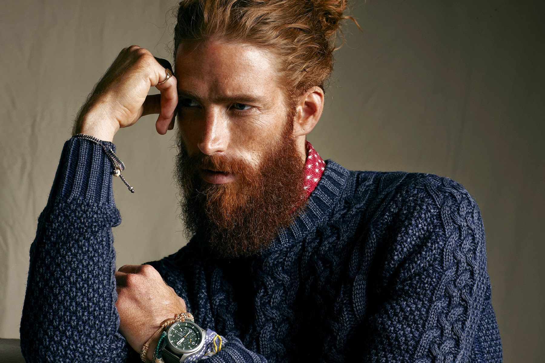 cool men long hairstyles and beards