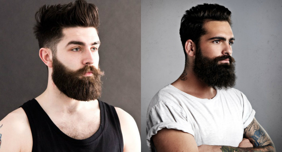 short haircuts with berads for men for 2018