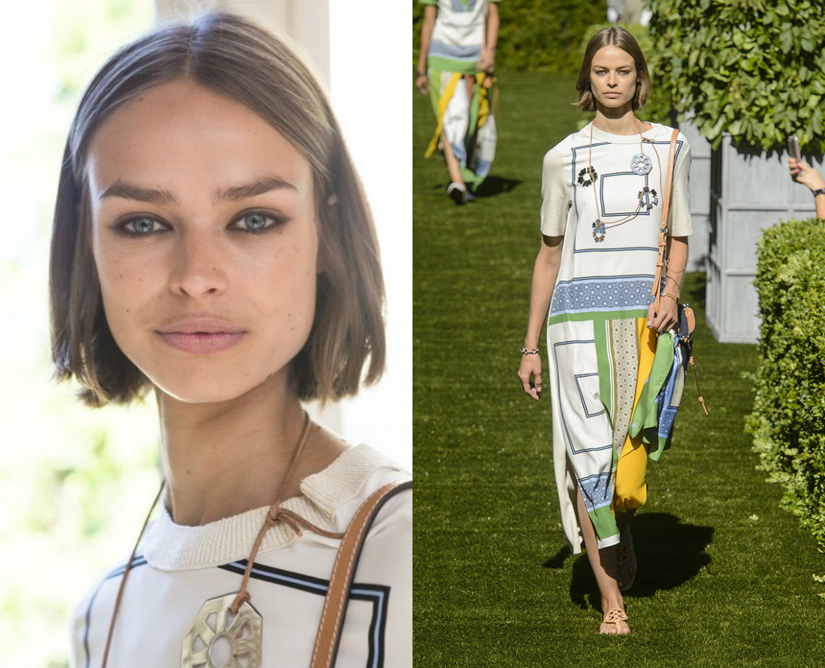 Tory Burch mid part bob haircut trends 2018