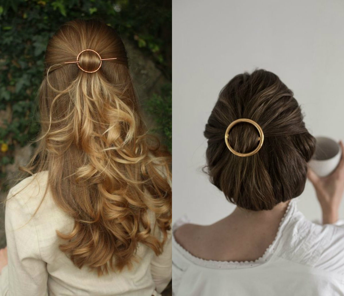 minimalist golden hair accessories for wedding 2018
