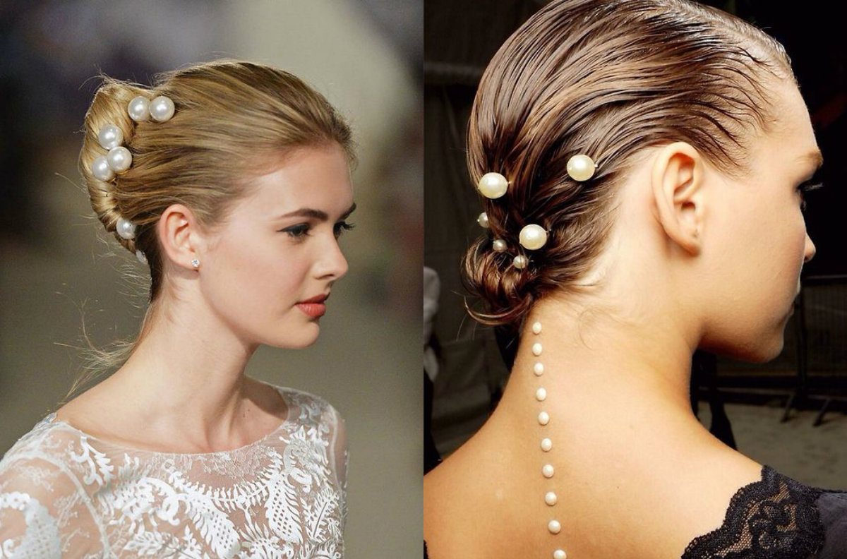 pearls in hair for bridal hairstyles 2018