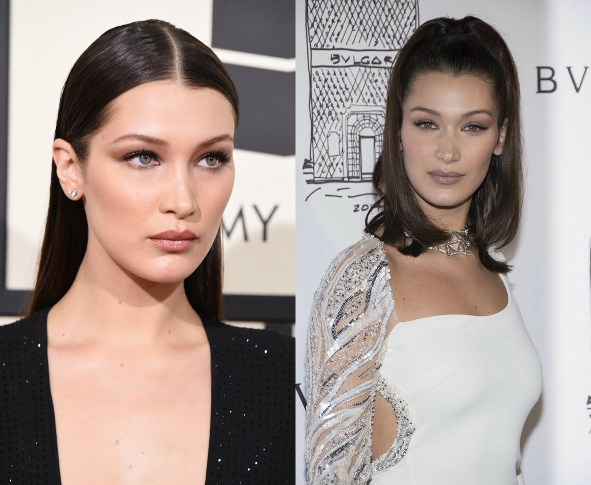 Bella Hadid root beer hair colors 2018
