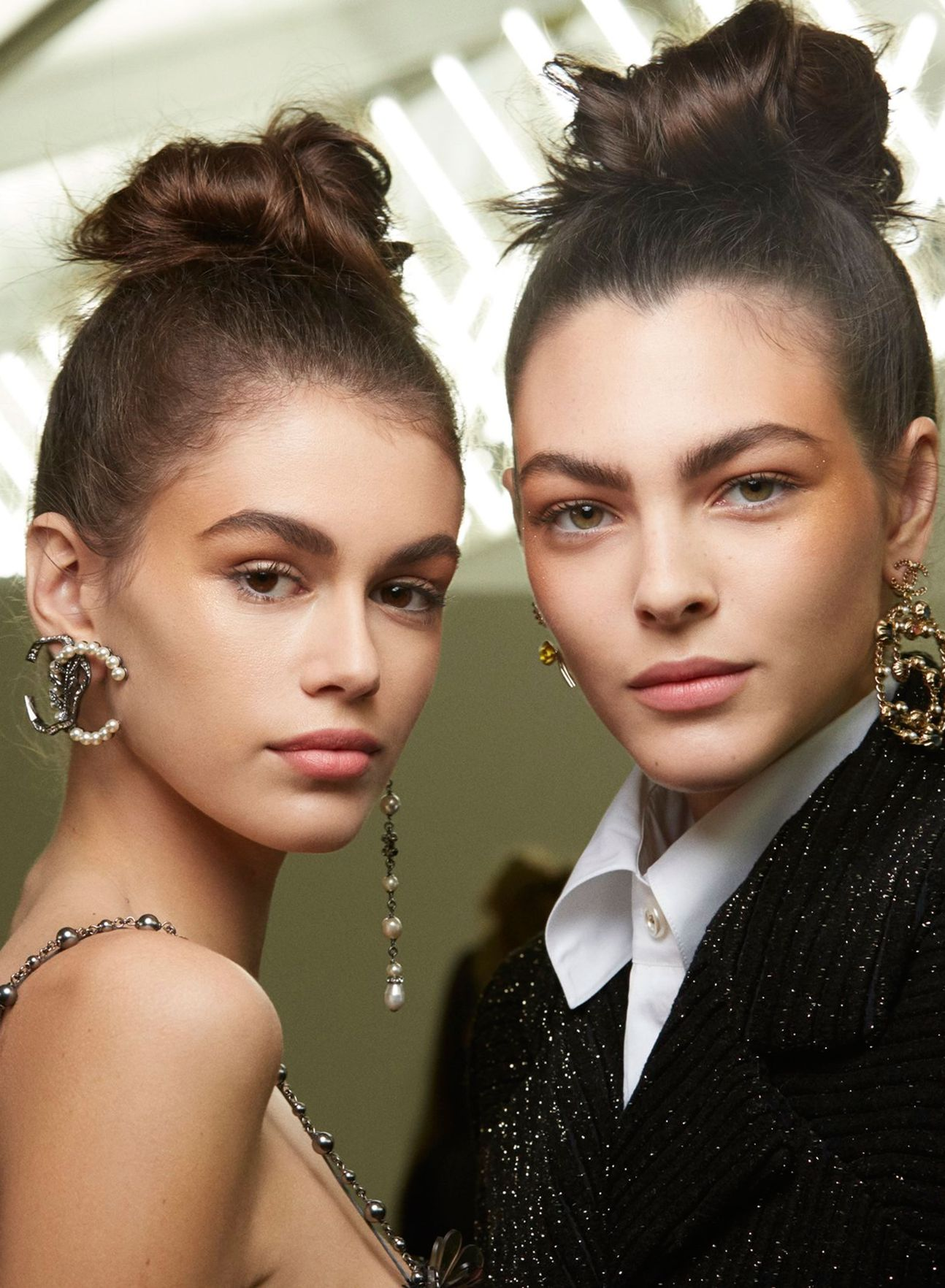 Chanel high updo hairstyles 2019 winter