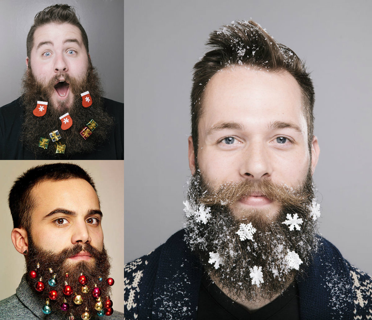 funny christmas beard decoration & men's hairstyles | hairstyles