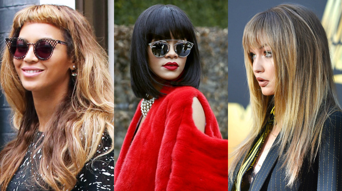 celebrity hairstyles with bangs