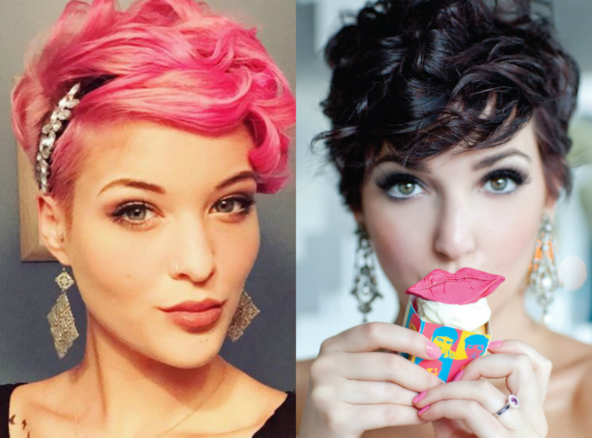 Curly Bridal Pixie Haircuts