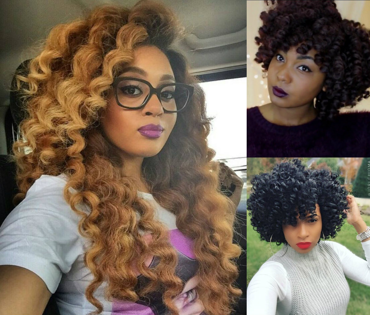 crochet braids hairstyles for lovely curly look | hairdrome