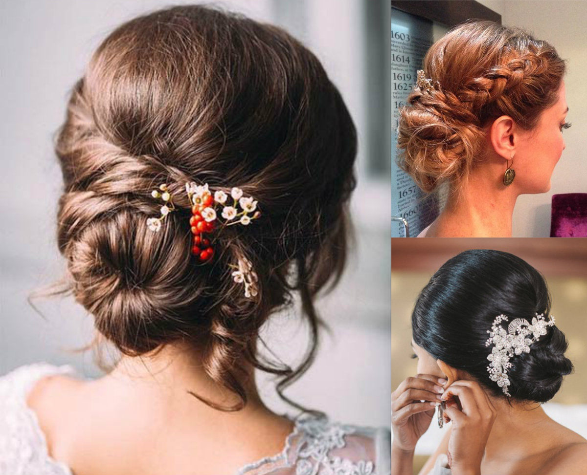 romantic low bun wedding hairstyles 2017 | hairdrome