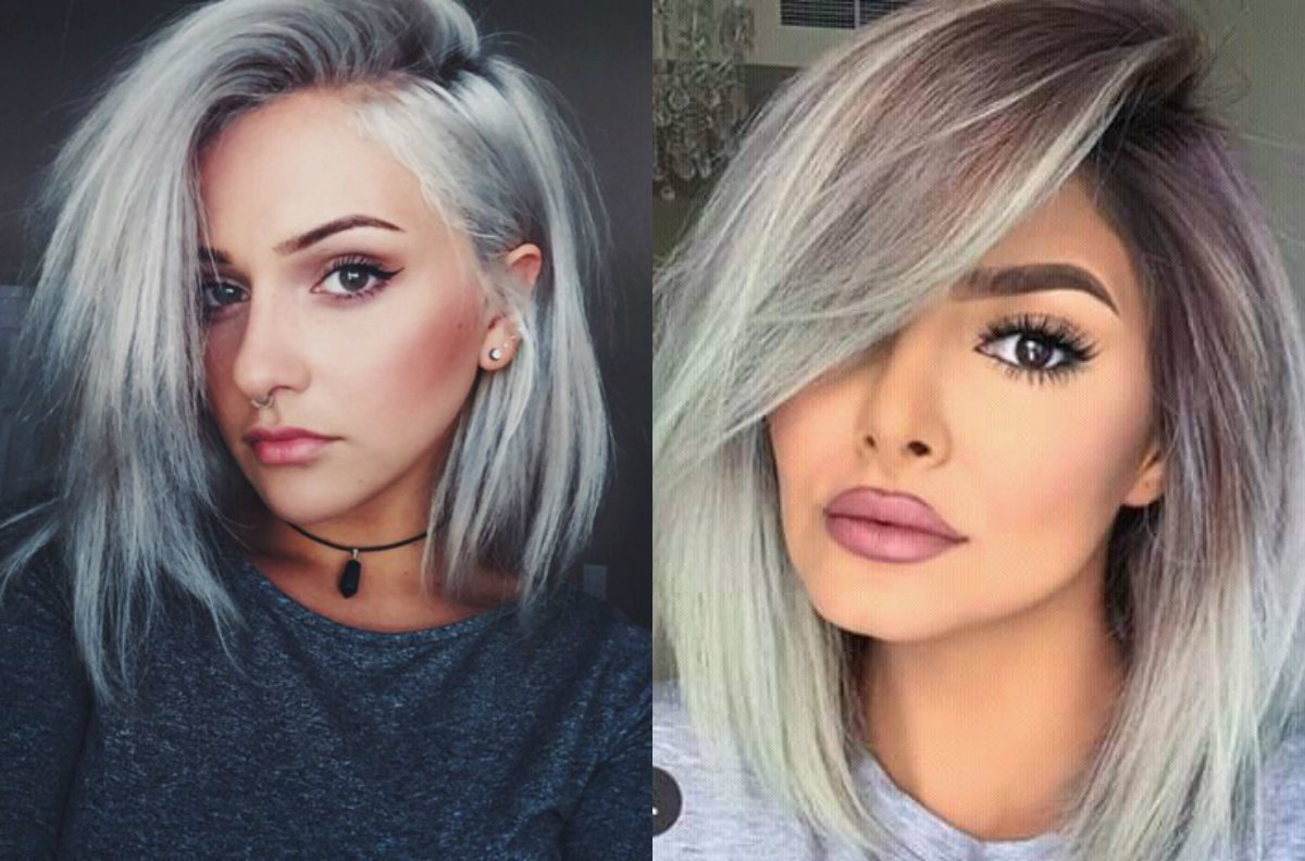 dare try ice cold silver bob hairstyles | hairdrome