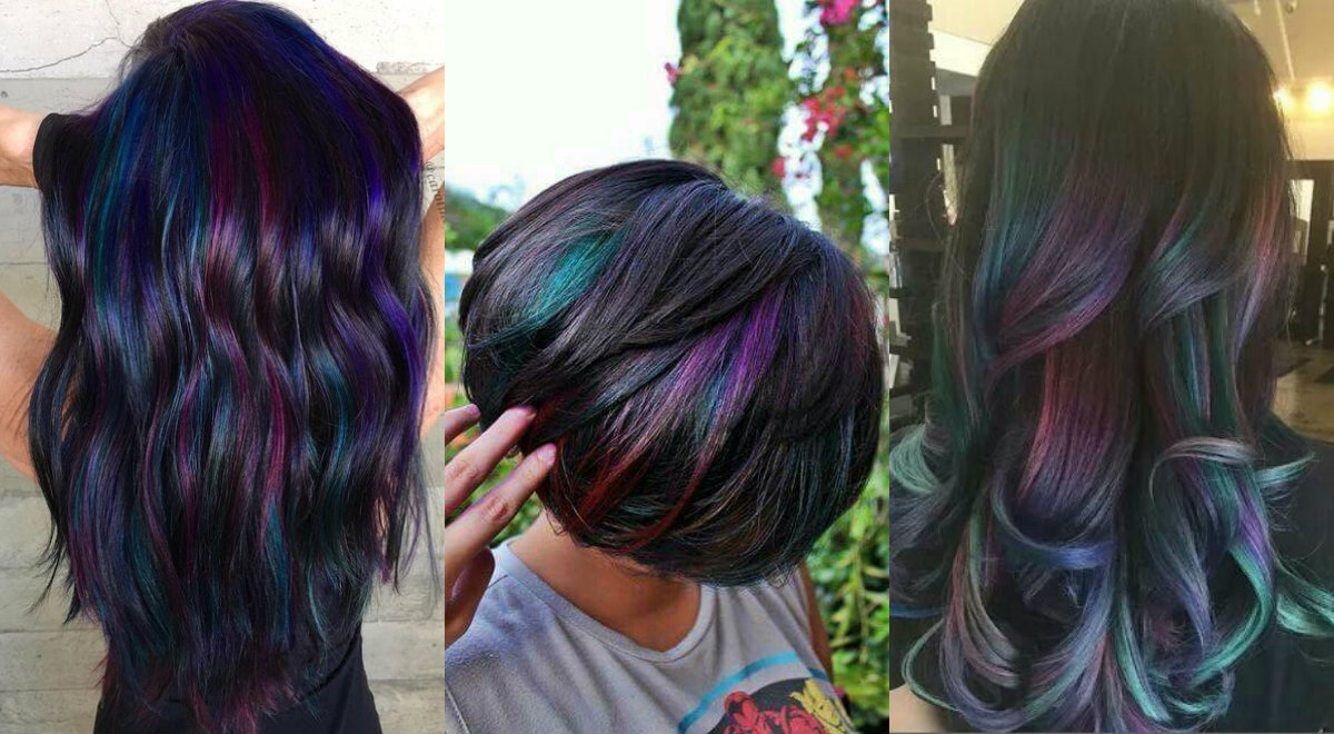 Admiring Brunettes Oil Slick Hair Colors 2017 | Hairdrome.com