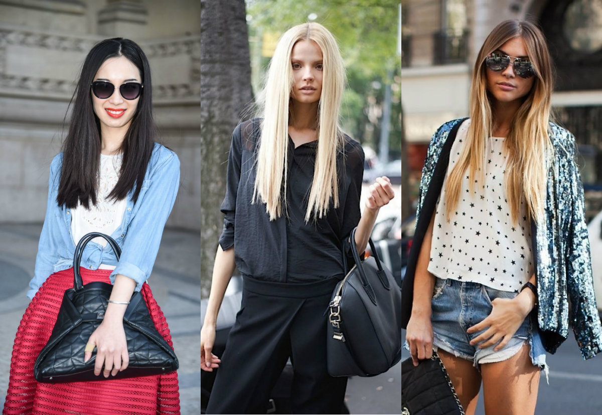 best mid part long straight hairstyles