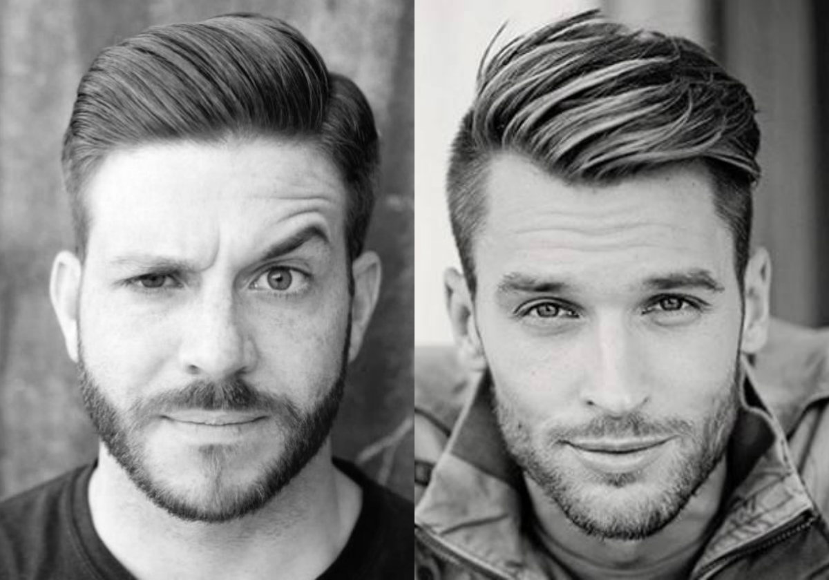 cool widows peak hairstyles for men | hairdrome