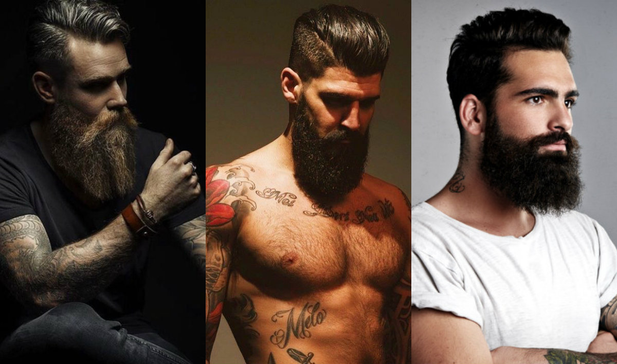 brutal beards & mens hairstyles 2018 | hairdrome